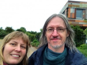 Karen and Chris pose for the de rigeur 'selfie' at RSPB Rainham