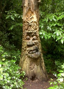 The face carved on a dead tree at Lesnes Abbey Woods (Photo: Chris Rose)