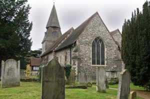 St. Mary's Church, Bexley Village. The starting point of the walk.