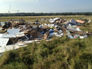 Part of fly-tipping
