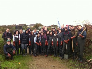 By making things happen we can sometimes leverage in outside help, such as this JPMorgan work-party at Thames Road Wetland. Others may get involved with protecting and enhancing the environment in Bexley by joining an existing local group or starting a new one, or through a London or national level society. By co-ordinating and publicising our efforts we can increase our impact.