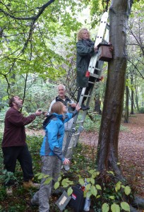 Duncan, Joanne Bradley, Robert Bradnam and Jane Stout worked to clean out and reposition nest boxes as necessary.