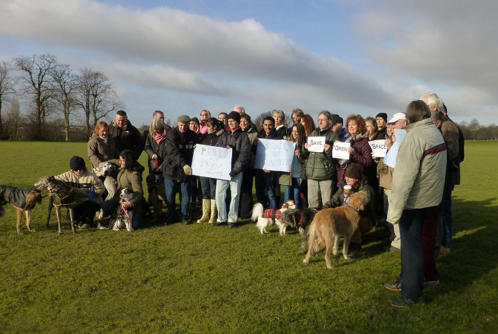 Attendees at the short-notice 'demo' against Bexley open spaces sell-off proposals.