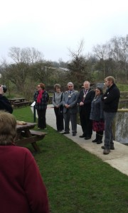 Mayoral party at the dipping pond ceremony. (Photo: Mandy Stevens)