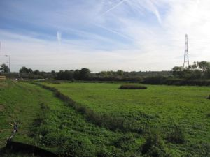 A similar view again, but from somewhat further from the railway line. Thought to have been taken in 2006 shortly before the wetland was created. (Photo: Rupert Cheesman, Bexley Council).
