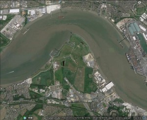 Swanscombe marshes/peninsula - reclaimed by nature and now a fantastic home for wildlife. (Google earth image)
