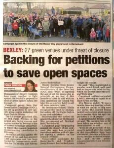 Recent open spaces campaign coverage in the News Shopper