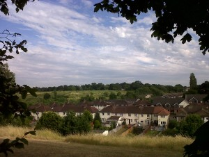 Hollyhill Open Space, looking across the valley to the Erith Quarry site, a Grade 1 SINC, most of which has been doomed to 'development' by Bexley Council. (Photo: Chris Rose)