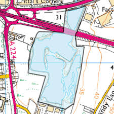 Ruxley Gravel Pits road map