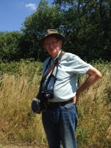 'BW' contributor Mike Robinson, who recently discovered the Marbled White butterfly at Hollyhill, a new (modern, at least) record for Bexley.