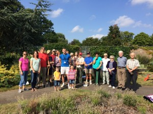 Some of the 50 people who have signed up to the Sidcup Community Garden Project, assemble for the first gardening session on August 8th.