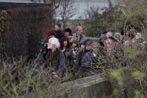Attendees follow leader Ralph Todd (Martin Petchey)
