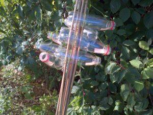 Harvest Mouse monitoring tubes , bundled together for transportation, await installation at Thames Road Wetland. (Photo: Chris Rose)