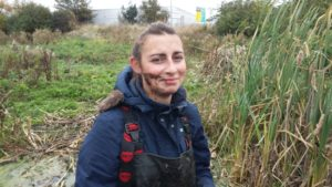 Joanna Barton wonders whether TRW mud is good for the complexion, whether any money could be made out of  it, and how many showers it will take to get rid of the somewhat sulphurous smell. (Photo: Ray Hudson)